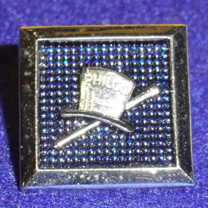 Other - VTG FORD PHILCO Lapel Pin Silvertone Top Hat Cane